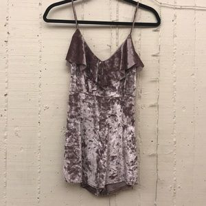 Urban Outfitters purple romper
